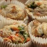 Muffin salé au thon, brocoli et chèvre