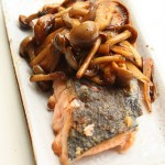 Meunière de saumon au champignon à la japonaise, simple et frais.