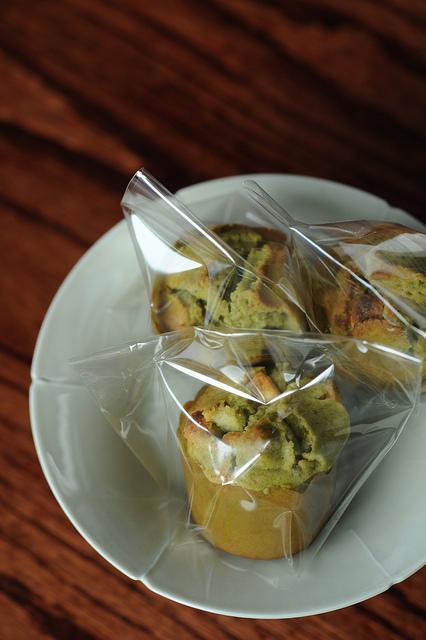 muffin thé vert chocolat blanc noix