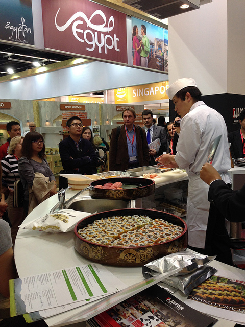sushi demonstration @ Japan Pavilion