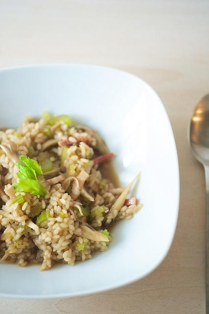 2014-06 risotto champignon lardon celeri